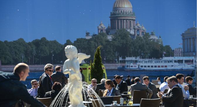 Il Forum economico di San Pietroburgo si svolgerà dal 22 al 24 maggio (Foto: Vladimir Astapkovich / Ria Novosti)