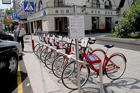 Alcune postazioni di bike sharing erano state inaugurate a Mosca a giugno 2013. Ora il servizio verrà incrementato (Foto: PhotoXPress)