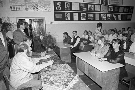 Aleksandr Solzhenitsyn durante una lezione (Foto: Photoshot/Vostock Photo)