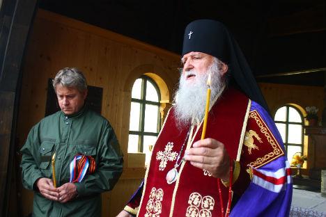 Un momento della cerimonia commemorativa (Foto: Aleksandra Bokovaya)