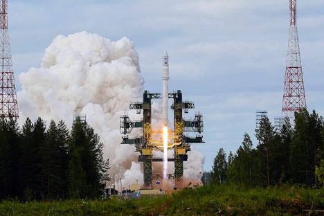 Il lancio del primo razzo vettore ecologico realizzato in Russia dopo la dissoluzione dell'Urss (Foto: Ria Novosti)