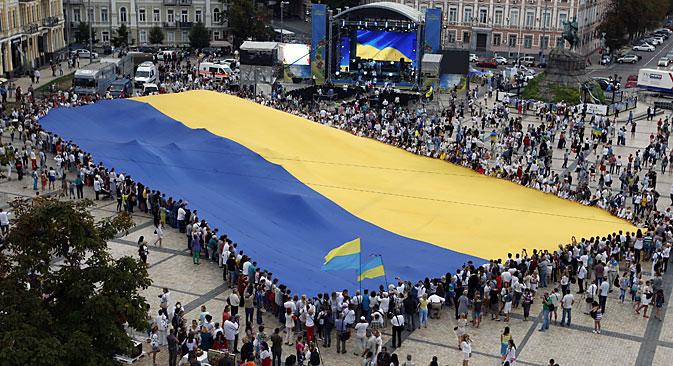 Kiev in festa durante la giornata dell'Indipendenza (Foto: Itar Tass)