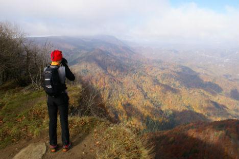 Un gruppo di turisti russi ha inaugurato le visite sull'Appennino tosco-romagnolo, nell'ambito di un progetto di promozione internazionale del Parco nazionale delle Foreste Casentinesi (Foto: ufficio stampa)