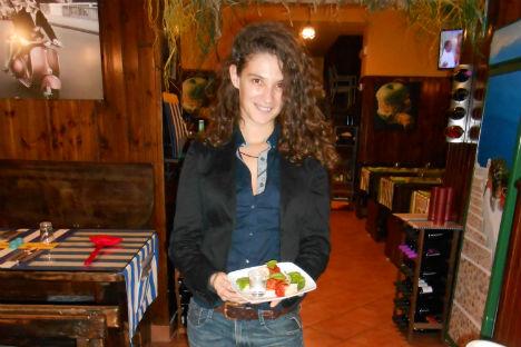 """Manuela Mirabile del ristorante """"Tandem"""" di Napoli (Foto: Nicola Sellitti)"""
