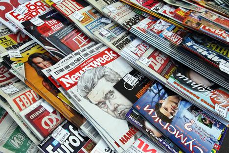 Secondo il quotidiano Vedomosti, la legge potrebbe interessare più della metà dei media russi (Foto: Vladimir Fedorenko/RIA Novosti)