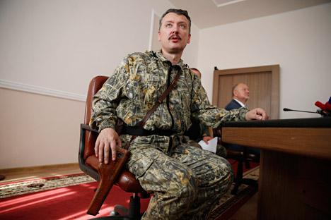 Igor Strelkov, uno dei leader dei ribelli di Donetsk (Foto: Reuters)