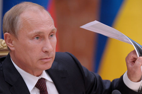 Il Presidente russo Vladimir Putin e il suo piano per dare una svolta alla crisi (Foto: Itar Tass)