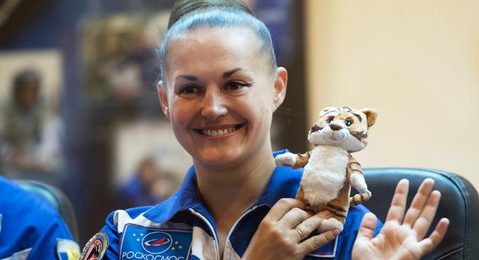 """Elena Serova è partita alla volta del cosmo a bordo della navetta """"Soyuz-FG"""" e resterà nello spazio 170 giorni (Foto: Ramil Sitdikov / Ria Novosti)"""