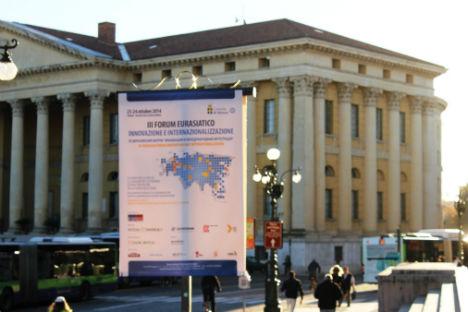 Il Forum Eurasiatico di Verona ha coinvolto oltre 700 aziende e 60 relatori in rappresentanza di otto paesi eurasiatici presenti (Foto: Evgeny Utkin)
