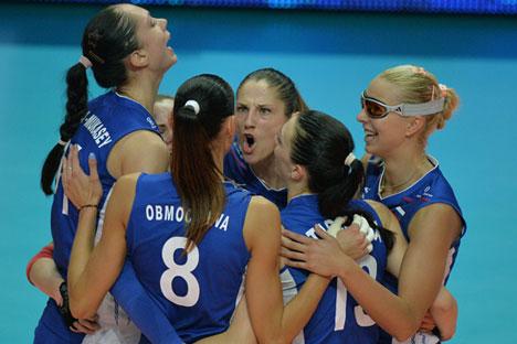 L'esultanza delle giocatrici russe (Foto: Vladimir Pesnya / Ria Novosti)