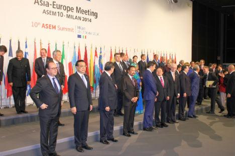 I leader mondiali a Milano per il vertice Asia-Europa (Foto: Evgeny Utkin)