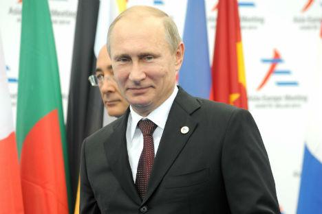 Il Presidente russo Vladimir Putin al vertice Asem di Milano (Foto: Evgeny Utkin)