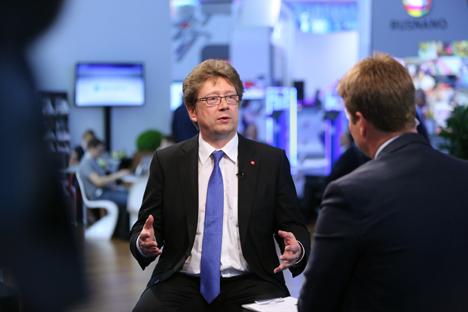 Il presidente del consiglio di amministrazione della borsa di Mosca, Aleksandr Afanasev (Foto: Getty Images/Fotobank)