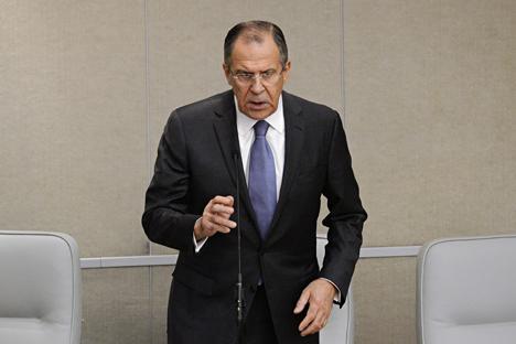 Il ministro russo degli Esteri Sergei Lavrov (Foto: Ramil Sitdikov/RIA Novosti)