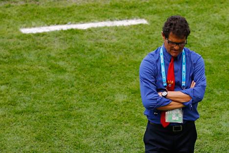 Tempi duri per mister Capello, allenatore della nazionale di calcio russa (Foto: Reuters)