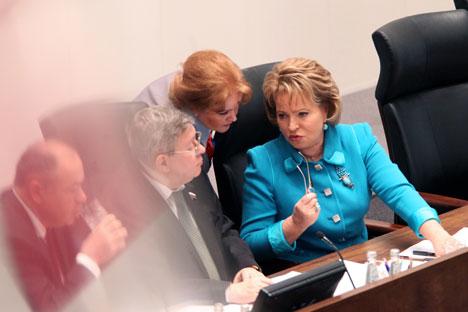 Il presidente del Senato russo Valentina Matvienko (Foto: Valery Melnikov / Ria Novosti)