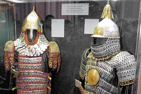 Antiche armature russe in esposizione (Foto: Dmitri Korobeinikov / Ria Novosti)
