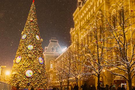 Albero di Natale in Piazza Rossa a Mosca (Foto: TASS/Lystseva)
