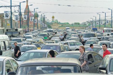 Il traffico di Mosca (Foto: Itar Tass)
