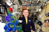 Elena Serova grows an apple tree on the International Space Station