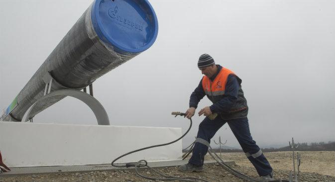 Nel dicembre del 2014 la Russia ha sospeso il progetto per la costruzione del gasdotto South Stream, della portata di 63 miliardi di metri cubi di gas all'anno (Foto: Sergei Geneev / Ria Novosti)