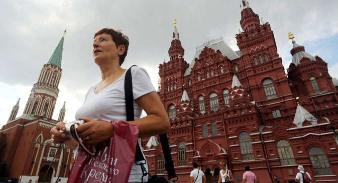 Turisti a Mosca (Foto: Sergei Karpov / Tass)
