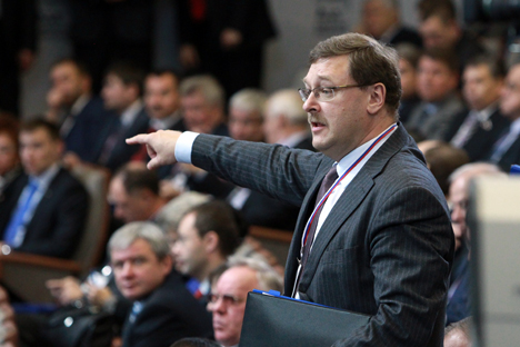 L'ex direttore di Rossotrudnichestvo, Konstantin Kosachev (Foto: Oleg Prasolov / RG)