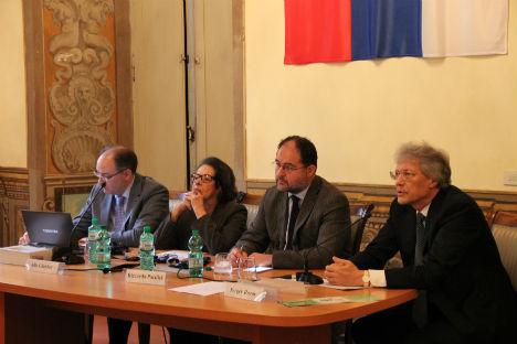 Un momento dell'incontro al Centro russo di Scienza e Cultura (Foto: ufficio stampa / Centro Russo di Scienza e Cultura)