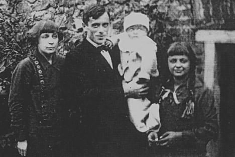 Marina Cvetaeva con il marito e i figli a Praga (Foto: Getty Images / Fotobank)