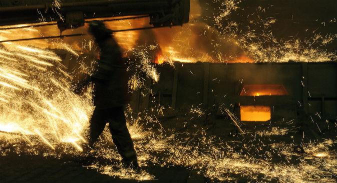 Fabbrica metallurgica nei pressi di Nizhny Talin (Foto: Tass)