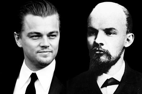 """Nel 2013 il portalekinopoisk.ruscriveva che l'attore hollywoodiano Leonardo di Caprio avrebbe interpretato il ruolo di Lenin nella trasposizione cinematografica del libro di Robert Service """"Lenin: una biografia"""". Un pesce d'aprile ovviamente smascherato in poco tempo (Foto: AP, Wikipedia, Rbth)"""