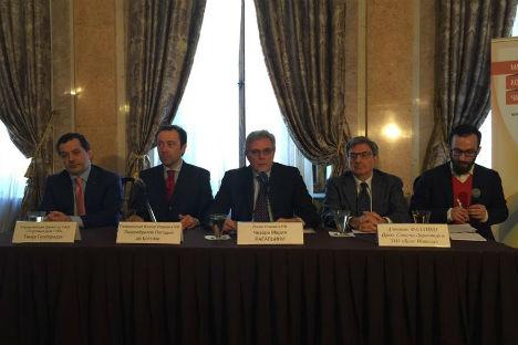 La presentazione del sito nella sede dell'Ambasciata italiana a Mosca (Foto: ufficio stampa)