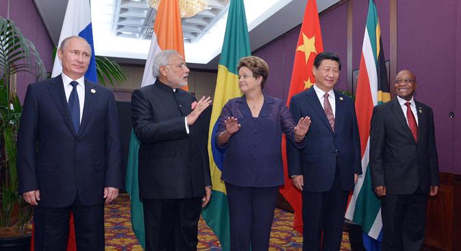 Dal primo di aprile la Russia assumerà ufficialmente la presidenza dei Brics, il gruppo di cui fanno parte anche Brasile, India, Cina e Sudafrica (Foto: Ria Novosti / Aleksei Druzhinin)