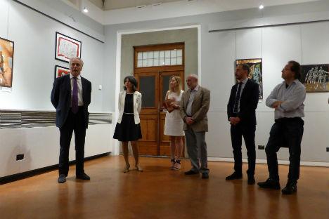 L'inaugurazione della mostra a Firenze (Foto: ufficio stampa)