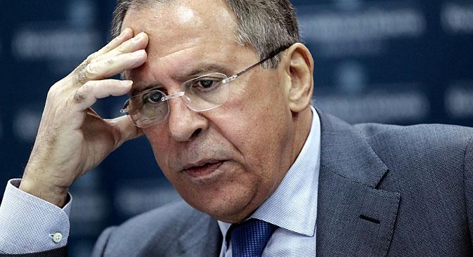 Il ministro russo degli Esteri Sergei Lavrov intervistato da RBTH e Rossiyskaya Gazeta (Foto: Olseya Kurpyaeva / RG)