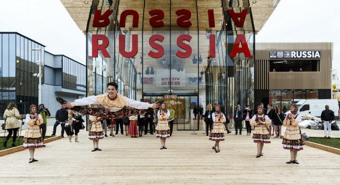 L'inaugurazione del padiglione russo (Foto: Evgeny Utkin)