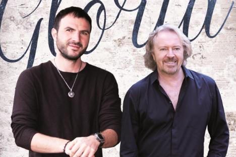 Il cantante russo Alan Tsarikaev, a sinistra, insieme a Umberto Tozzi (Foto: ufficio stampa)
