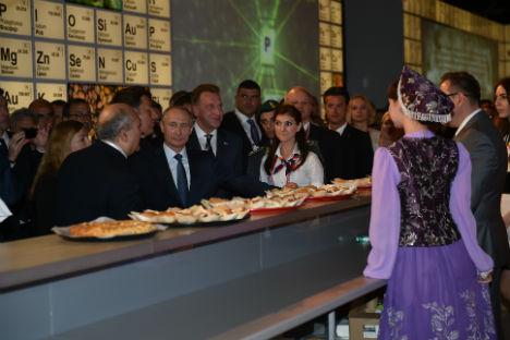 Il Presidente Vladimir Putin dentro al Padiglione Russia (Foto: Russia Expo 2015)