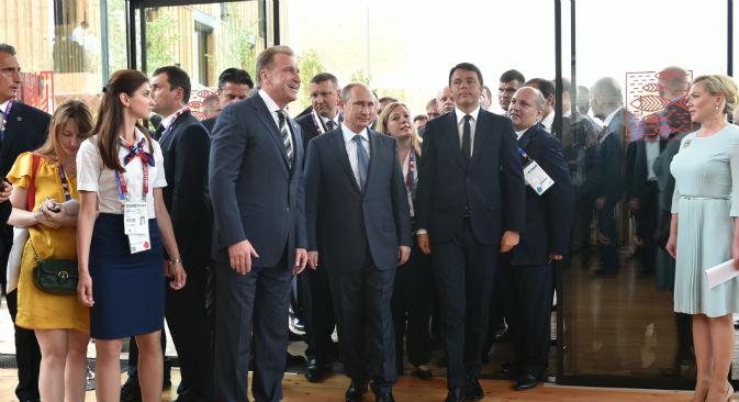 Il Presidente Vladimir Putin nel Padiglione Russia (Foto: Russia Expo 2015)