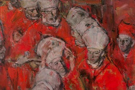 """La mostra di Yuri Kalyuta """"Rosso su rosso"""" (Foto: ufficio stampa)"""
