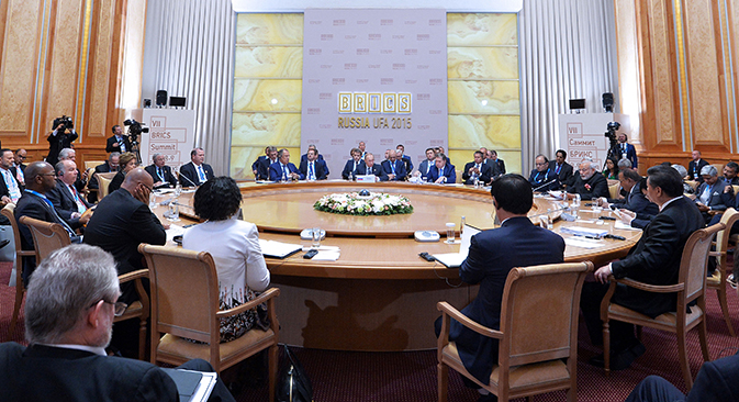 La riunione dei Brics a Ufa (Foto: Photoshot / Vostock-photo)