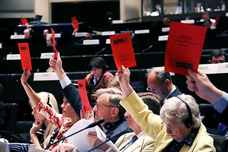 La votazione è avvenuta in assenza della delegazione russa (Foto: OSCE)