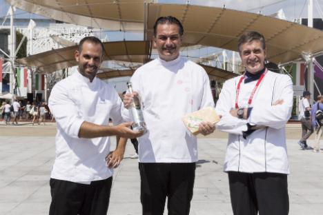 I tre chef che hanno partecipato alla giornata italo-russa all'Expo di Milano (Foto: Russia Expo 2015)
