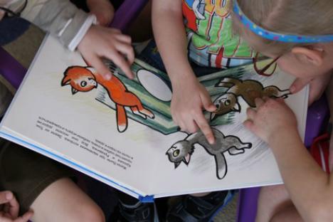 """Libri per bambini non vedenti (Credit: Fondazione """"Libri illustrati per piccoli bambini ciechi"""")"""