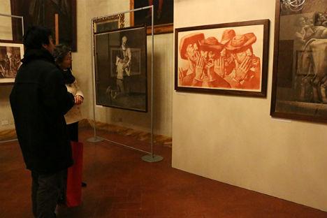 Alcune delle opere in mostra.