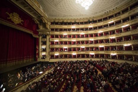 Il teatro La Scala di Milano, dove da sette anni Makhar Vaziev ha guidato il corpo di ballo