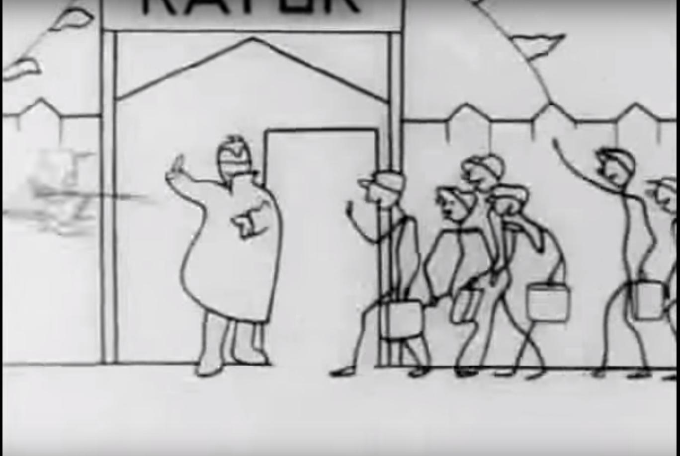 """""""La pista di pattinaggio"""", Yuri Zheliabuzhsky e Nikolai Bartram, 1927"""