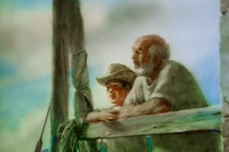 """""""Il vecchio e il mare"""", Aleksandr Petrov"""