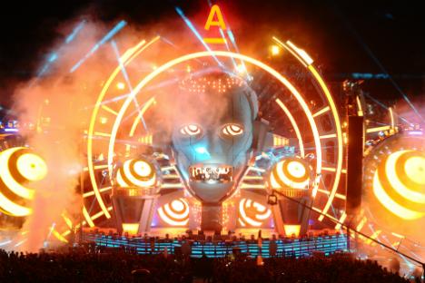 Il Festival internazionale di musica elettronica che si svolge ogni anno sulle rive del Volga.