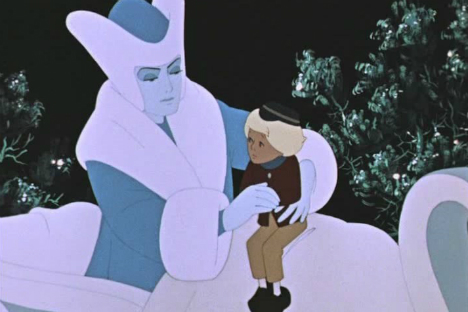 """Un frammento del lungometraggio """"La Regina delle Nevi"""", 1957"""